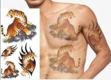 Etiqueta engomada temporal impermeable animal del tatuaje del diseño del modelo del tigre
