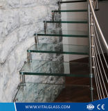 Vidro de vidro/oco da vitrificação dobro modelada geada do vidro da decoração/chuveiro da balaustrada