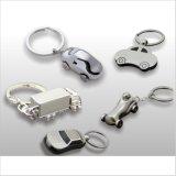 Carro Keychain Shaped da prata 3D Samll do preço de fábrica