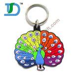 Regalos promocionales Keychain de goma de encargo, encadenamiento dominante del PVC,