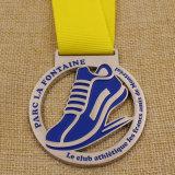 安くリボンが付いている金属のマラソン競争の金の銀の銅メダルを予約した