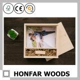 ギフトのためのカスタマイズされたロゴのブラウンの木の収納箱の宝石箱