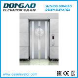 Il piccolo ascensore per persone della stanza della macchina con lo specchio ha inciso l'acciaio inossidabile