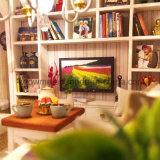 Puzzlespiel-hölzernes Spielzeug-bestes Weihnachtsgeschenk-Rosa-Traumhaus des Kind-pädagogisches DIY des Haus-3D