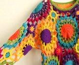 100% algodón mano crochet vintage clásico vestido de noche largo