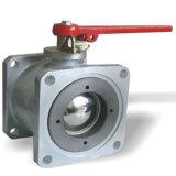 Quadratischer Flansch-Aluminiumkugelventil Dn65