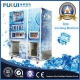 卸し売り屋外のセルフサービスによって袋に入れられる氷の自動販売機