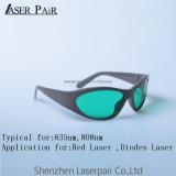 RTD elevada da proteção com vidros de segurança do laser da forma do esporte do frame #55 para 635nm&808nm Eyewear