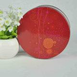 Farbenreicher Druck-runder Zinn-Kasten