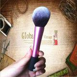 Solo cepillo anaranjado rosado del maquillaje del Rt con el rectángulo plegable