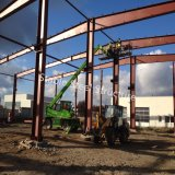Estructuras de acero industriales que construyen a Pasillo prefabricado