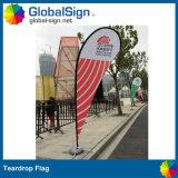 La larme faite sur commande d'impression polychrome directe de la publicité extérieure d'usine de la Chine marque des drapeaux