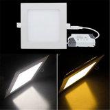 blanc blanc de /Warm DEL de grand dos de voyant de 3W 4W 6W 9W 12W 15W 18W 24W 220V DEL de lampe d'intérieur lumineuse élevée de plafond de Lampada