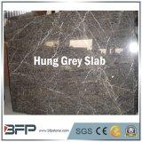 La surface Polished a arrêté la brame de marbre grise pour le revêtement de mur