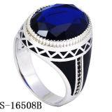 새 모델 925 파란 유리를 가진 은 반지 보석
