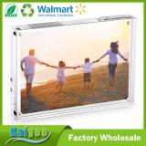 5X7 borran los marcos de escritorio gruesos, marco de acrílico magnético de la foto del cuadro