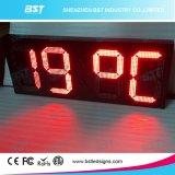 Muestra al aire libre de la temperatura del alto brillo LED