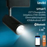 lumière à télécommande sans fil 8W de piste de 2.4G rf Dimmable DEL