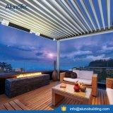 Système imperméable à l'eau de toit motorisé par Pergola de Sun d'auvent en aluminium d'ombrage