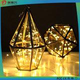 Beleuchtung der Feiertags-Dekoration-kupferner Draht-Gelb-Farben-Zeichenkette-LED