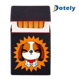 Silicona personalizadas titular caso de cigarrillos