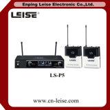 Microfono senza fili a doppio canale professionale della radio di frequenza ultraelevata del microfono Ls-P5