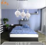 現代ヨーロッパ式の暖かく白い円形のペンダント灯