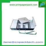 Таможня складывая коробку твердого подарка специальной бумаги упаковывая с тесемкой