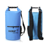 Outdoor PVC impermeável Custom Logo Dry Bag com bolso Zip Exterior