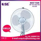 Ventilateur de brouillard de l'eau de stand d'argent de 16 pouces avec le certificat de la CE