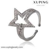 14492 Anillo abierto del platino de la joyería de la manera en diseño de cinco estrellas del punto