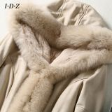2016 Novo design de Lady's Shearing Leather and Fur Hooded Jacket