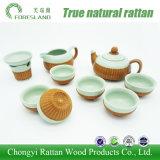 Jeu de thé chinois de cuvettes de thé de bac de thé de porcelaine