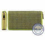 Carteira longa do Zipper do couro do Mens do estilo do projeto clássico do couro genuíno