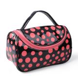 Lady Fashion Dotted Mirror PVC Maquiagem Wash Cosmetic Bag (YKY7513)