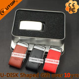 創造的なギフトの多彩な革金属USBのフラッシュ・メモリ(YT-5116-01)