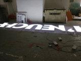 옥외 외부 방수 상표 로고 LED 가벼운 전자 소형 표시 아크릴 강철에 의하여 날조되는 채널 편지