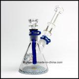 Rokende Pijp van het Water van het Glas van Illadelph van de Dikte 10inches 7mm van het Glas van Hfy de Nieuwe bij de Basis van de Beker Om het even welke Waterpijp van de Fles