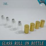 rolo de vidro do perfume vazio do cilindro 3ml mini no frasco