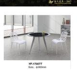 책상 사무실 유리제 가구 유리제 커피용 탁자 작은 유리제 둥근 우유 커피 테이블 (YF-17005AT/005BT/007T)