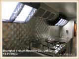 Ys-Fv390d de Multifunctionele Witte Aanhangwagen van het Voedsel met Platen Dimond