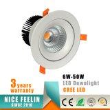 plafond Downlight de l'ÉPI DEL du CREE 30W pour l'allumage de systèmes