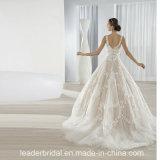 2017 Wedding спагеттиа шнурка мантии шарика платьев CB064 расположенный ярусами Bridal