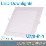 La luz del panel del LED 85-265V 3/4/6/9/12/15/18/24W ultra brillante para el techo ahuecó para el cuarto de baño de la cocina