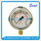 Glicerina o olio a base di silicone - manometro riempito