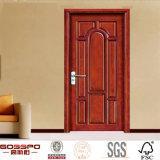 Do Teak contínuo de madeira externo da porta do quarto portas de madeira (GSP2-004)