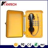 2017 Robusto Industrial Teléfono impermeable IP66 KNSP-01 al aire libre Teléfono analógico