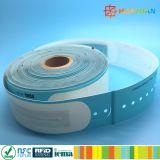Pulsera disponible clásica sintetizada del papel MIFARE 1K RFID de los PP del vinilo imprimible