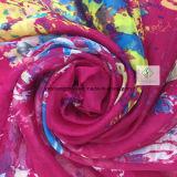 Новым повелительница напечатанная цветком Способ Шелк Шарф шали пляжа 2017