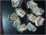Catena chiara del LED con la piccola batteria di legno 2AA della Camera (cuore, butirrosi)
